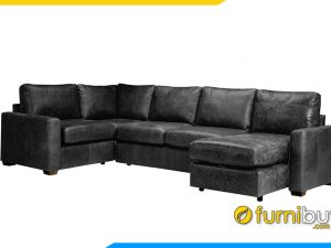 Sofa da sang trọng FB20058 cho phòng khách rộng
