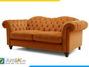 hình ảnh ghế sofa văng nỉ kiểu dáng tân cổ điển đẹp