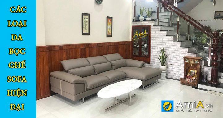 Các loại da bọc ghế sofa da